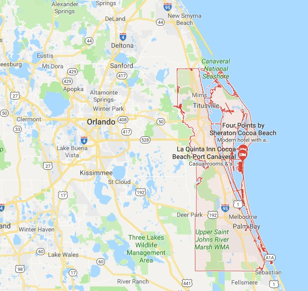 Brevard County Florida Map.Sinkholes In Brevard County Fl Interactive Sinkhole Maps