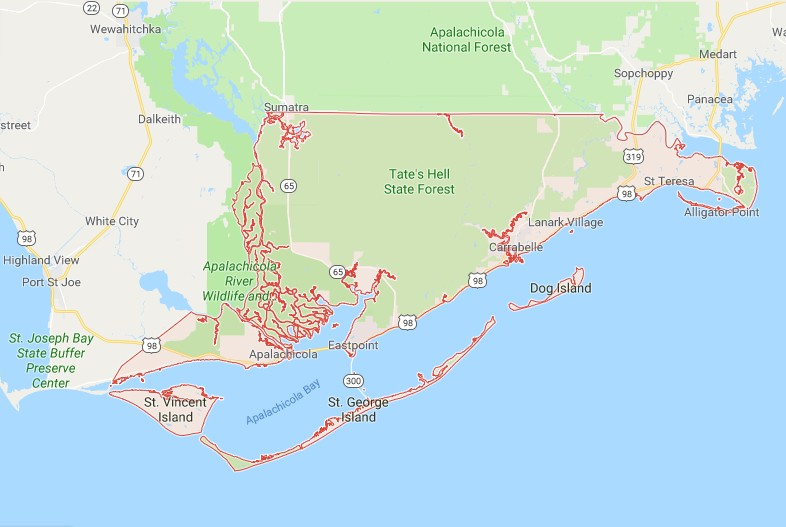 Dog Island Florida Map.Sinkholes In Franklin County Fl Protect Your Real Estate
