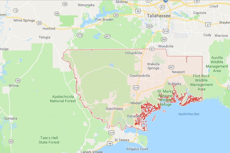Map Of Wakulla County Florida.Sinkholes In Wakulla County Fl Interactive Sinkhole Maps