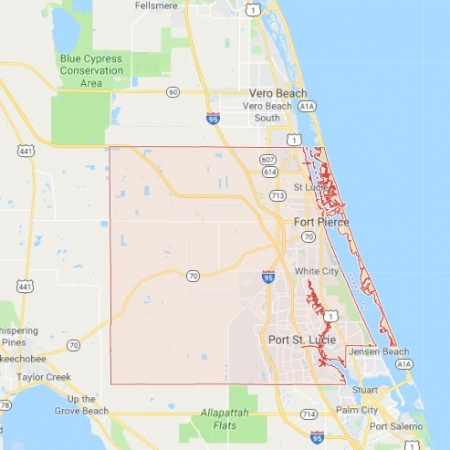 Map Of Port St Lucie Florida