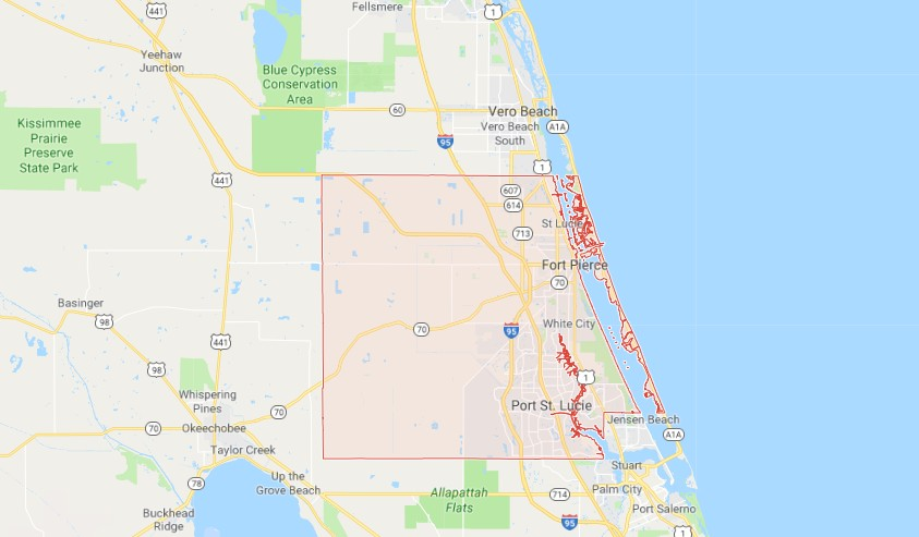 Map Of St Lucie County Florida.Sinkholes In St Lucie County Fl Interactive Sinkhole Maps
