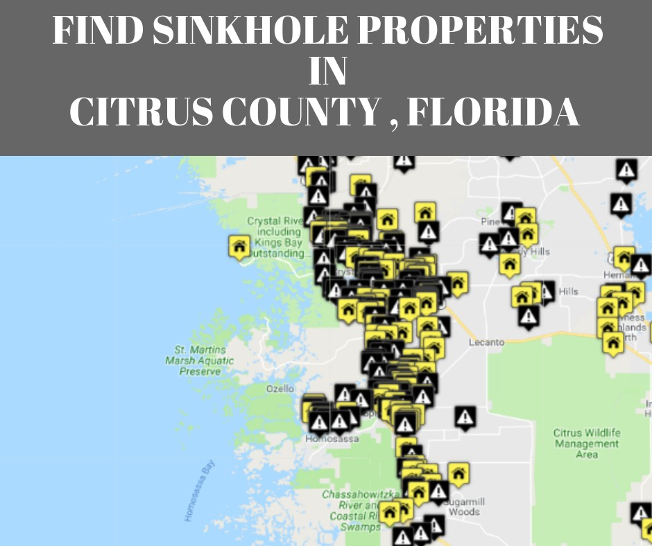 Sinkholes In Citrus County Fl Protect Your Real Estate Investment