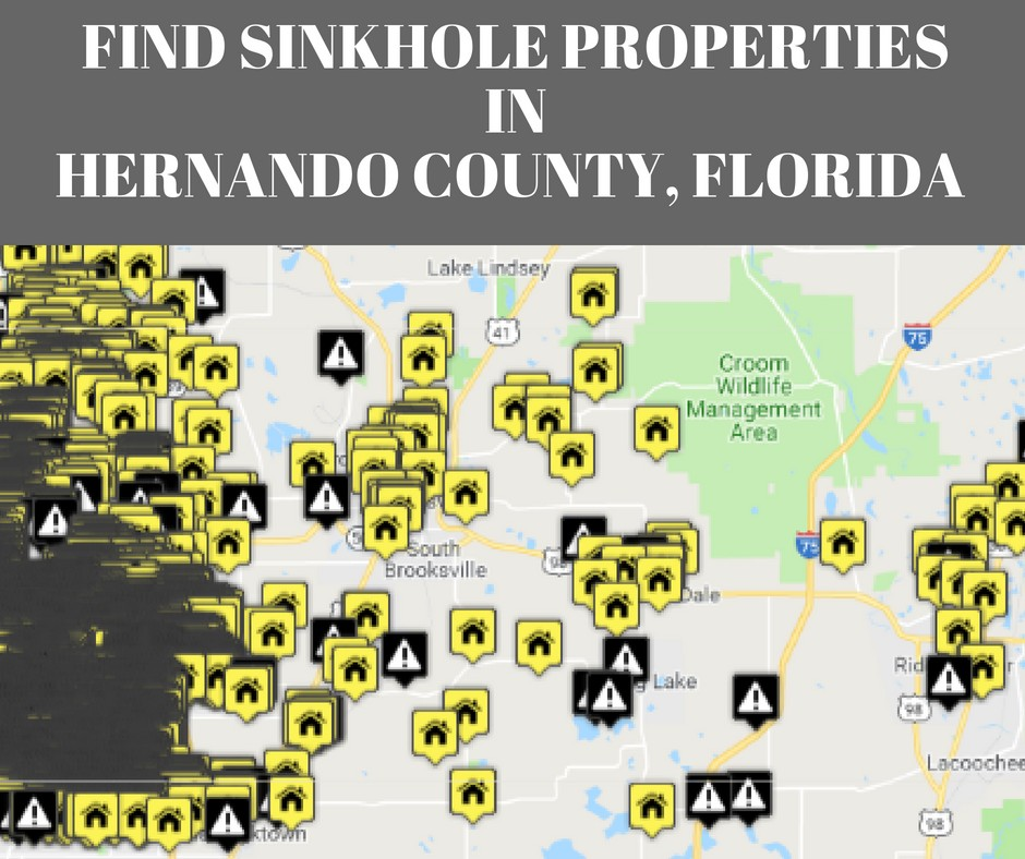 Sinkhole Map Hernando County Florida Sinkholes in Hernando County, FL | Protect Your Real Estate