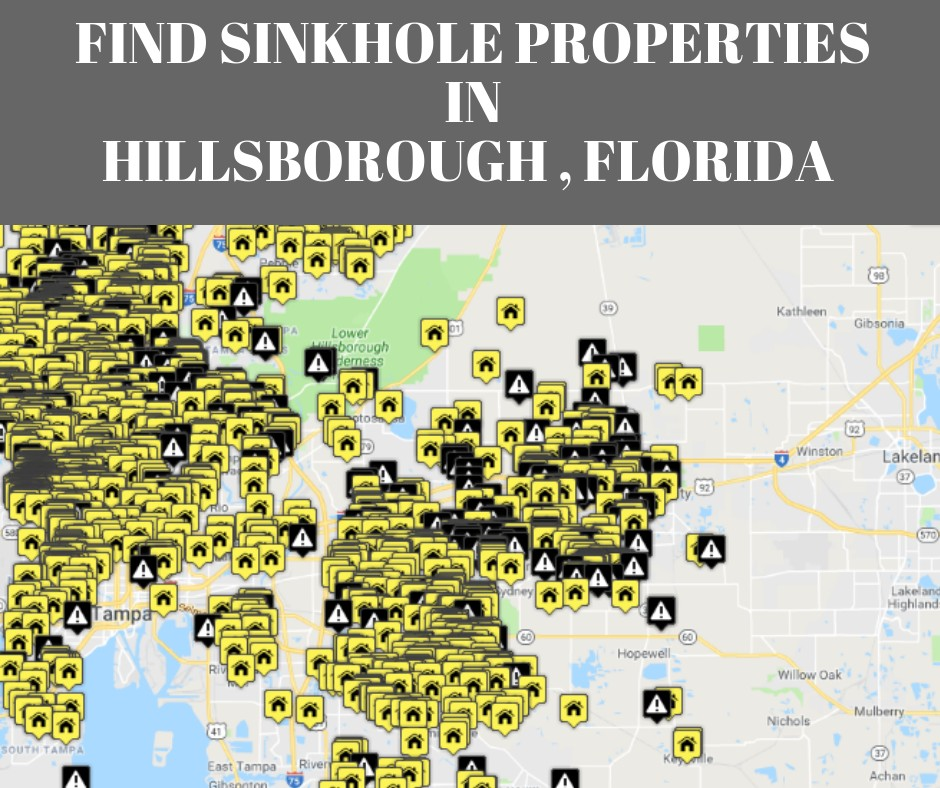 Hillsborough County FL Sinkhole Map