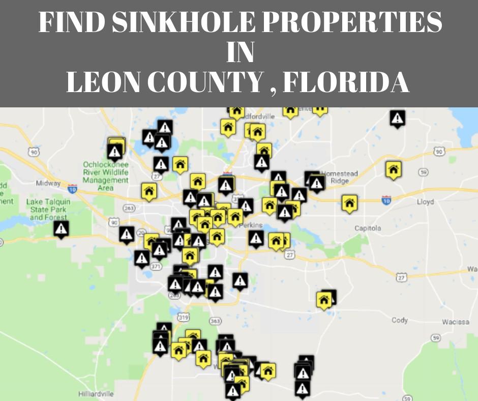 Leon County FL Sinkhole Map