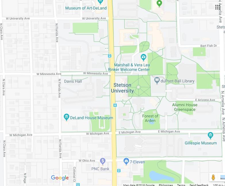 Map Of Deland Florida.Stetson University 137 W Michigan Ave Deland Sinkhole In Florida