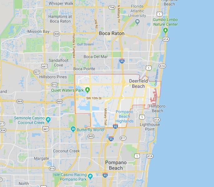 Map - Deerfield Beach