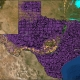 Oil well activity in Texas