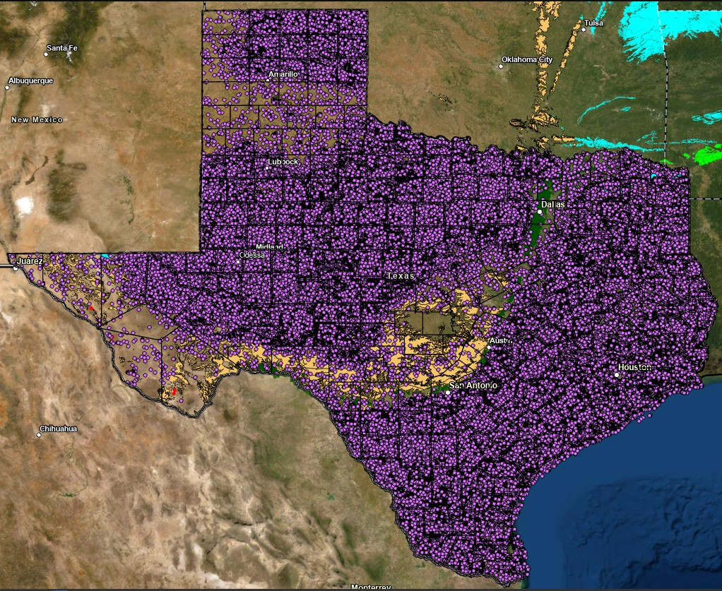 Texas Sinkhole Map Texas Sinkholes Research – Is Texas Sinking? | Interactive