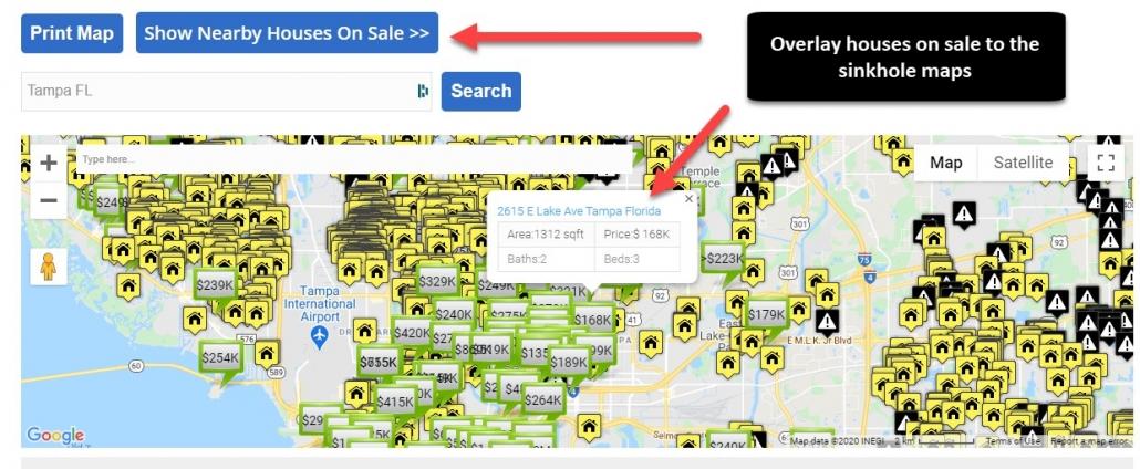 houses on sale overlay